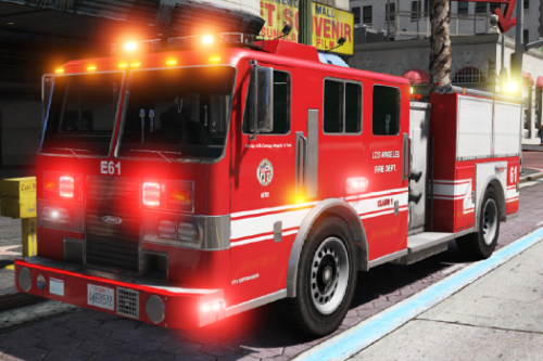 Pierce LAFD based Firetruck [ELS]