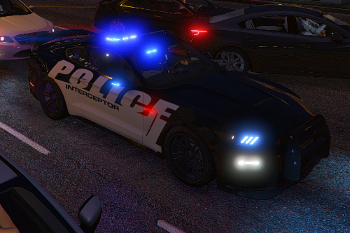 ELS Shelby GT-350 police interceptor LAPD based lore friendly Mustang