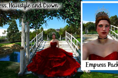 Empress Pack: Dress, Hair and Crown [FiveM / SP]