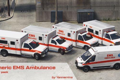 EMS Ambulances (Generic Design) Livery Pack [Lore Friendly]