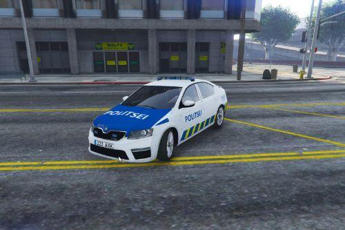 Estonian Police Škoda VRS octavia ( Eesti politsei )