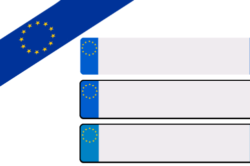 EU blank license plate