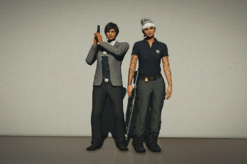 EUP L.S. Detective and FIB Field Agent Outfits for MP Female