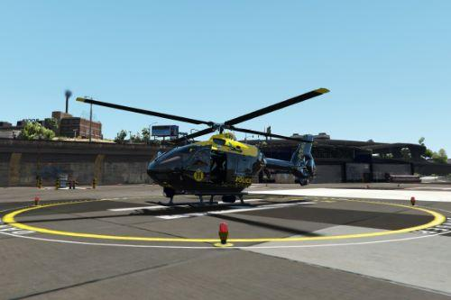 Eurocopter EC135 Police Scotland Air Support Unit Skin G-POLS