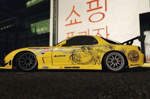Evolusi Kl drift 1 paintjob for Mazda Rx7 FD3S