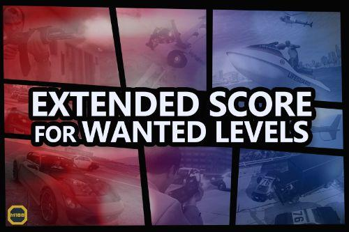 Extended Score for Wanted Levels [Add-On | Sound]