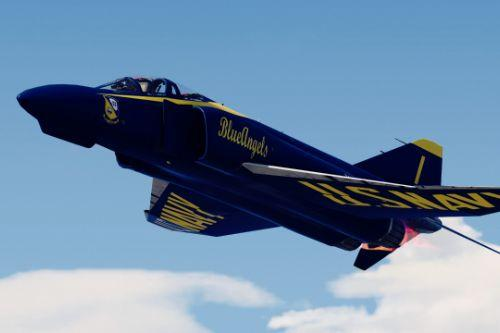 F-4 Phantom II Blue Angels US Navy Display Team [Add-on]