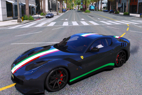 F12TDF Carbonfiber with Italian Stripes Livery