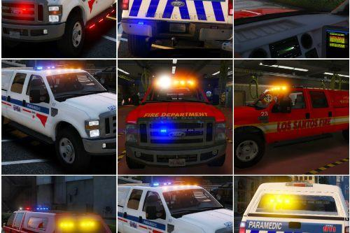 Ford F350 SD Pickup Truck - Fire - Police - EMS Versions ADDON/REPLACE [ELS]