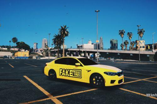 Fake Taxi livery for BMW M5