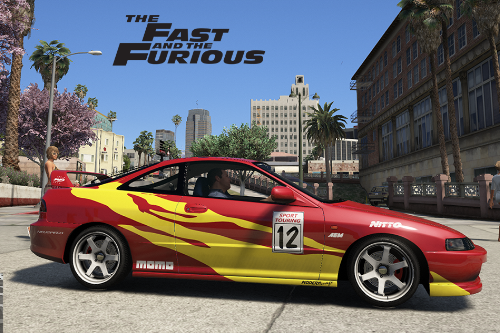 Fast And Furious Edwin's Acura Integra Vinyl