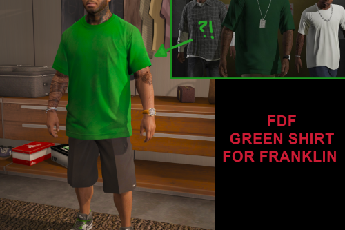 FDF Green shirt for Franklin