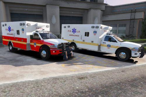 FDNY and FDLS Skins for Medic4523's Ram Ambulances