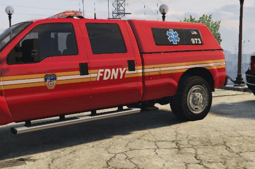 FDNY EMS Supervisor F350 Skin