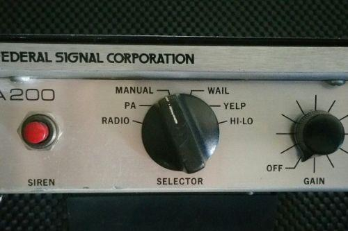Federal Signal PA200 Siren Pack