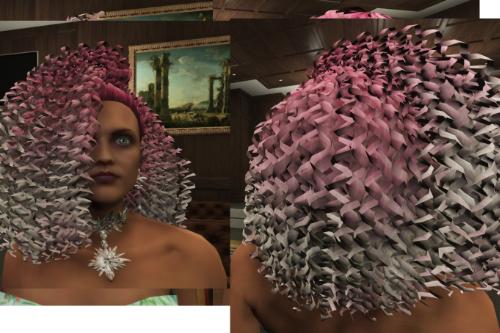 Fluffy Hair for MP Female [SP / FiveM]