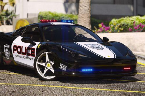 Ferrari 458 Italia  | Hot Pursuit Police | AUTOVISTA [Add-On / Replace | Template]