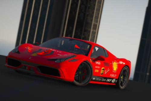 Ferrari 458 Speciale /  Ferrari f1 SF1000 livery