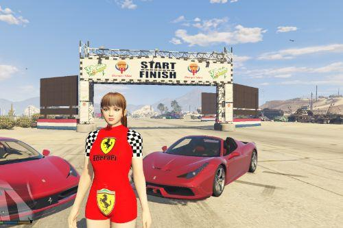 Ferrari T-Shirt and Shorts for Mai Shiranui