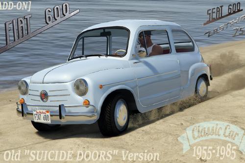 Fiat 600 | Seat 600 | Zastava 750 [Add-On] Suicide doors + Tuning parts