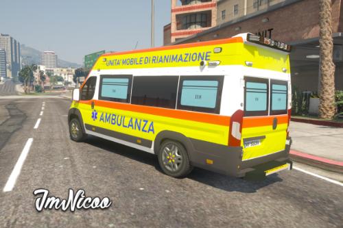 Fiat Ducato - Ambulanza 118 ( Paintjob | Fivem )