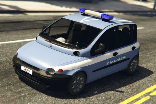 Fiat Multipla  Polizia di stato + Template  [ELS]
