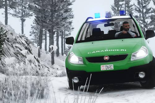 FIAT Sedici Carabinieri Forestali Paintjob
