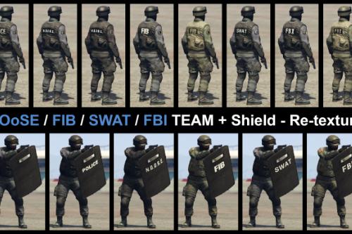 NOoSE / FIB / SWAT / FBI TEAM + Shield - Re-texture