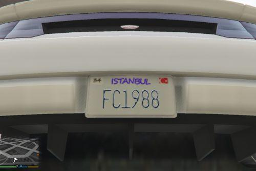 Fictional Istanbul License Plate