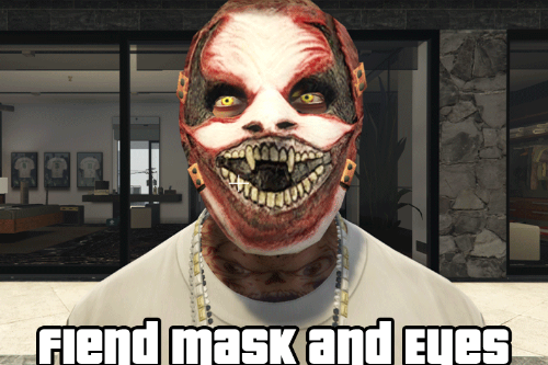 Fiend Mask and Eyes for Franklin