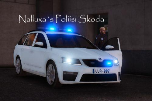 Finnish un-marked Police (Poliisi) Škoda Octavia Estate
