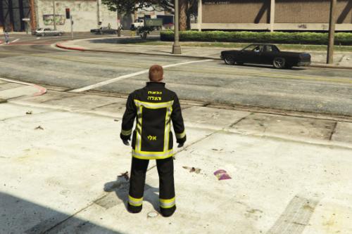 מדי כבאי -  fireman israel