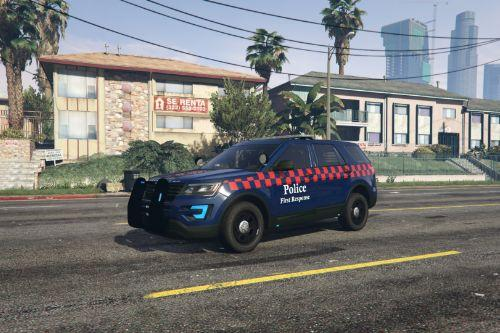 First Response Police explorer (Blue and white lights) (ELS)