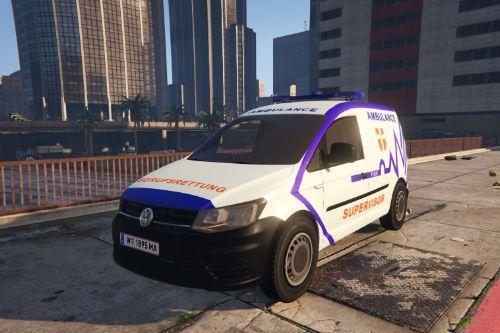FISU/NEF-Wiener Berufsrettung VW(Volkswagen)-Caddy | Field Supervisor | Österreich | Austrian Ambulance