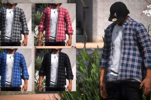 (FiveM/SP) Rolled up sleeves flannel For MP Male