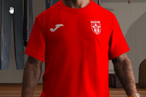 FK Partizani Tirana Albania Red Kit Home