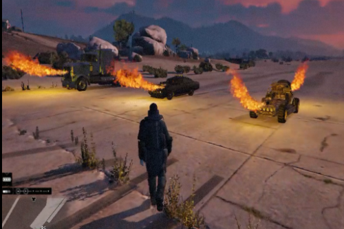 Flamethrowers on Cars