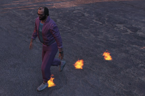Flaming Footprints