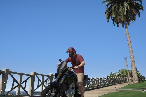 Flip up motorcycle helmet for Michael (textures mod)