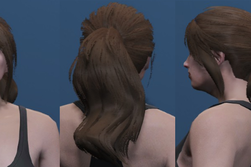 Fluffy Ponytail - Custom haircut for MP Female [SP / FiveM]