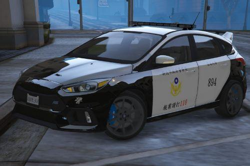 台灣警車(福特Focus RS) Taiwan Police Car(Ford Focus RS)|(Only Replace)