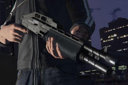 Folded Combat Shotgun