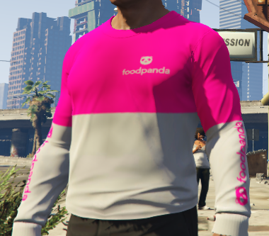 Foodpanda Shirt For GTA V Player