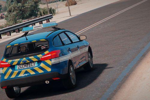 Ford Focus Gendarmerie [Replace / FiveM | ELS / NON-ELS | Reflective]