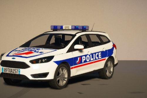 Ford Focus Police Nationale [Replace | ELS / NON-ELS | Reflective]
