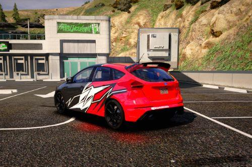 Ford Focus RS 2017 Tribal Paintjob