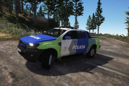 Ford ranger de la policía bonaerense (Argentina)
