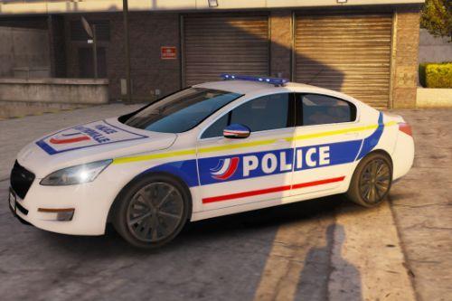 [FR] [EN] Peugeot 508 de la Police Nationale