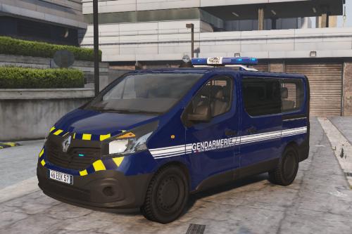 [FR] [EN] Renault Trafic de la Gendarmerie Nationale [Zébras réfléchissants]