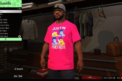 Justin Bieber T-Shirt for Franklin  (Joke)